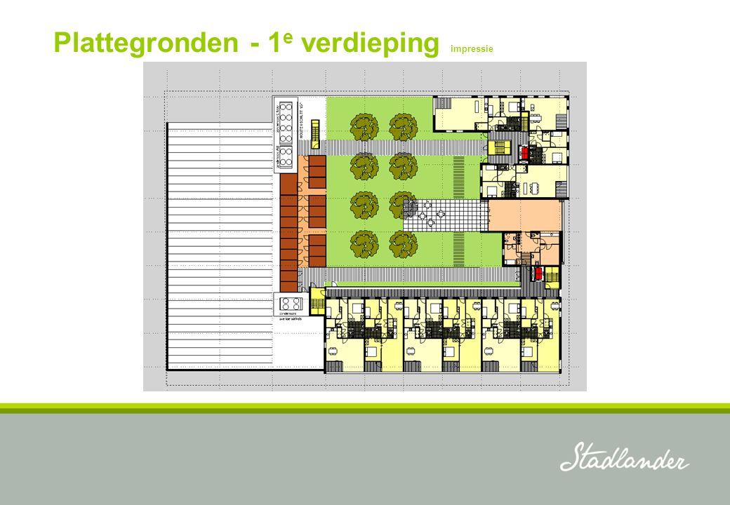 Plattegronden - 1 e verdieping impressie