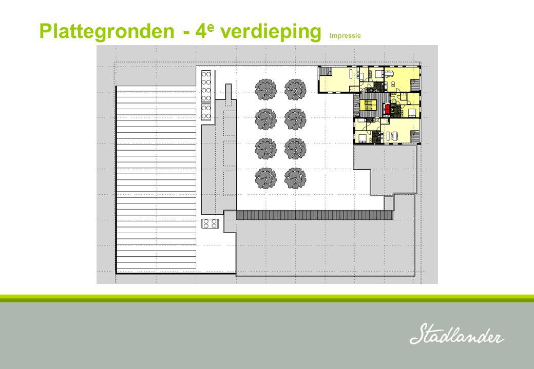 Plattegronden - 4 e verdieping impressie
