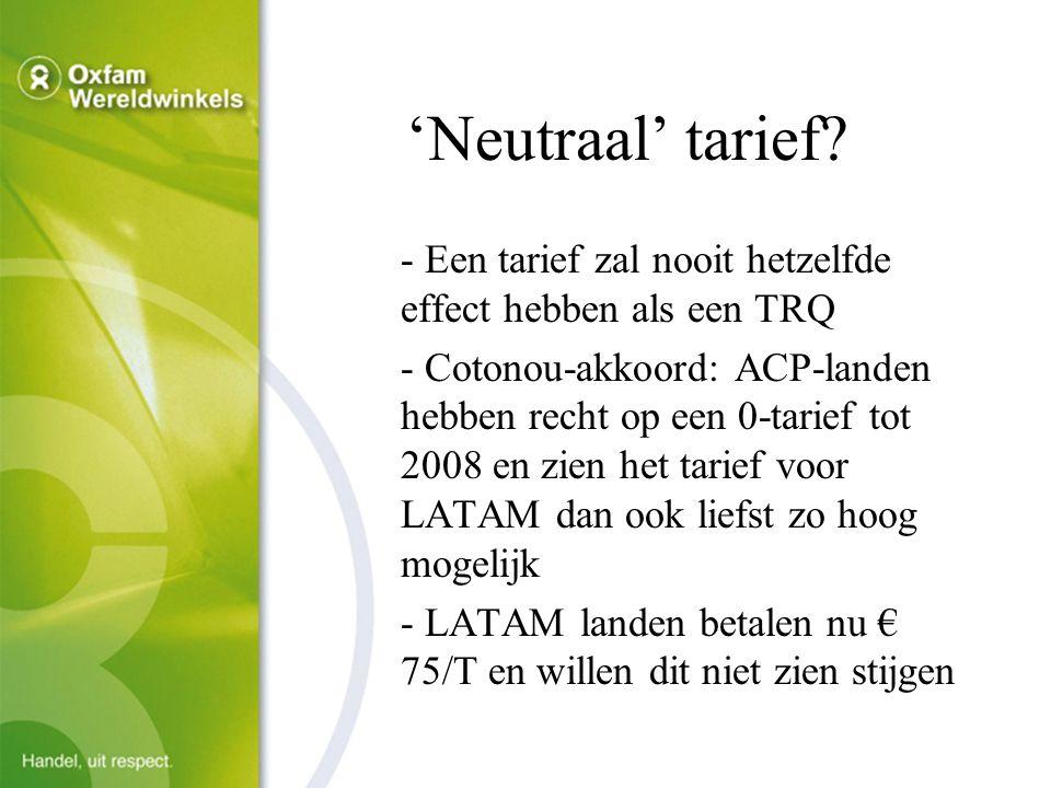'Neutraal' tarief.