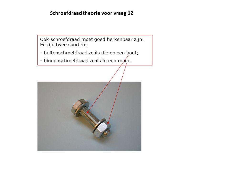Schroefdraad theorie voor vraag 12