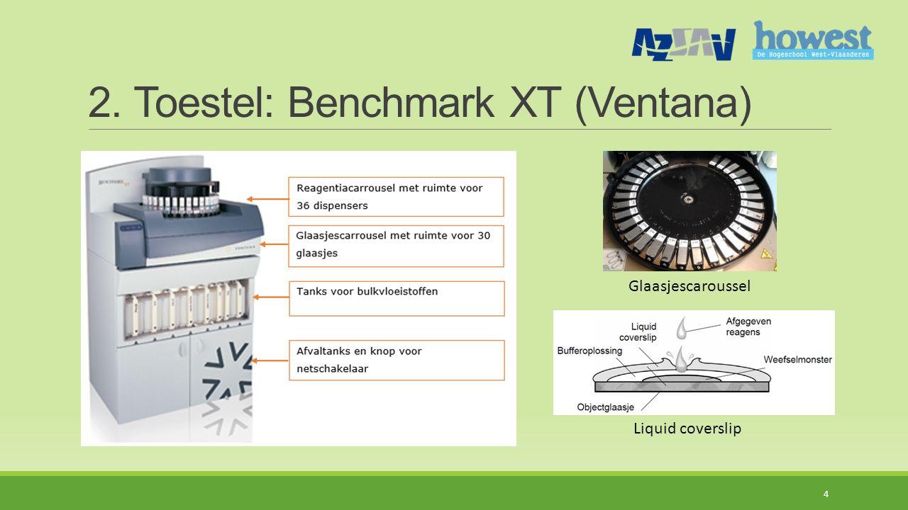 2. Toestel: Benchmark XT (Ventana) 4 Glaasjescaroussel Liquid coverslip