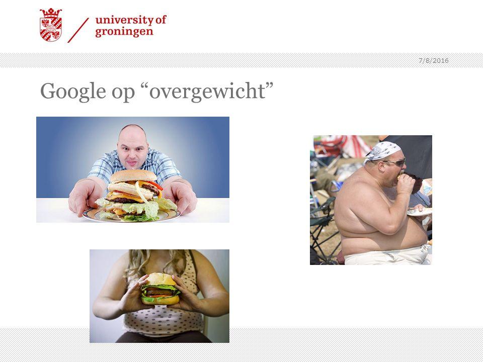 Google op overgewicht 7/8/2016