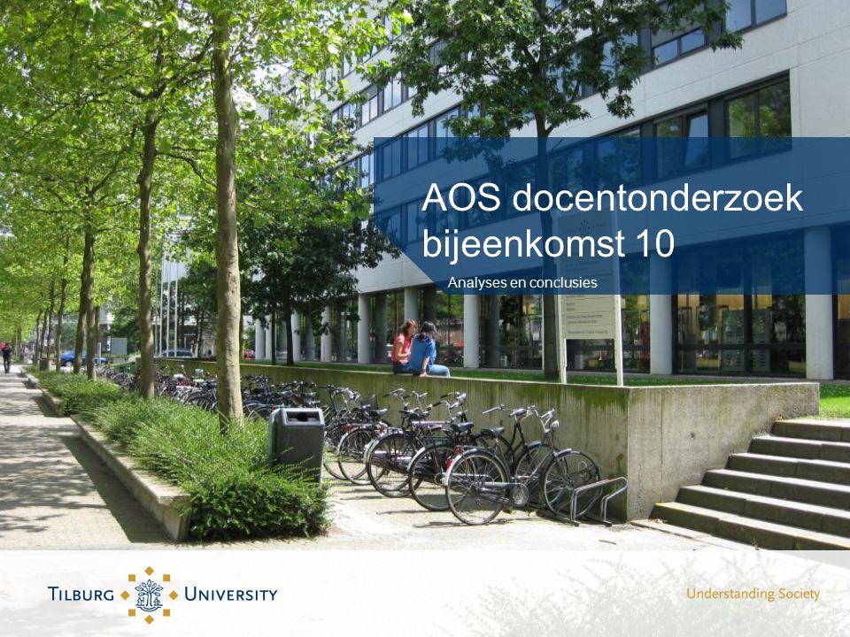 AOS docentonderzoek bijeenkomst 10 Analyses en conclusies