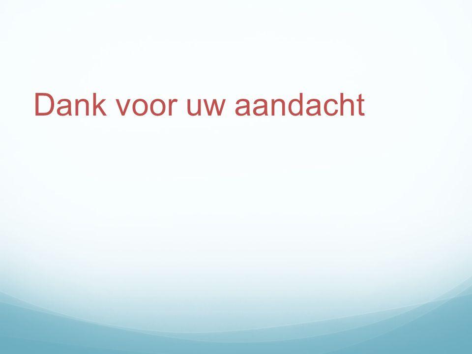 Dank voor uw aandacht