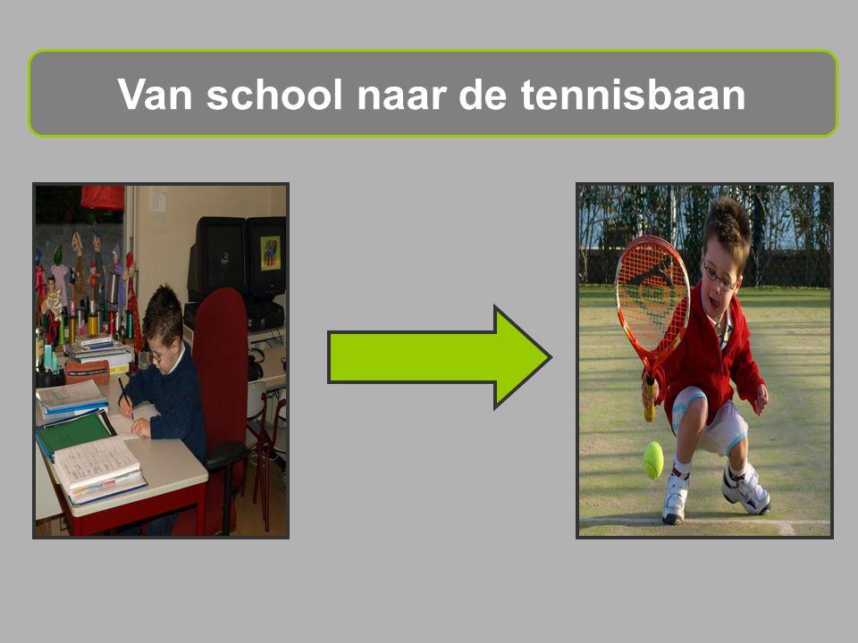 Van school naar de tennisbaan
