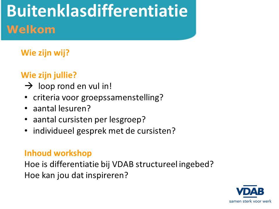 Buitenklasdifferentiatie Definitie Wat is differentiatie.