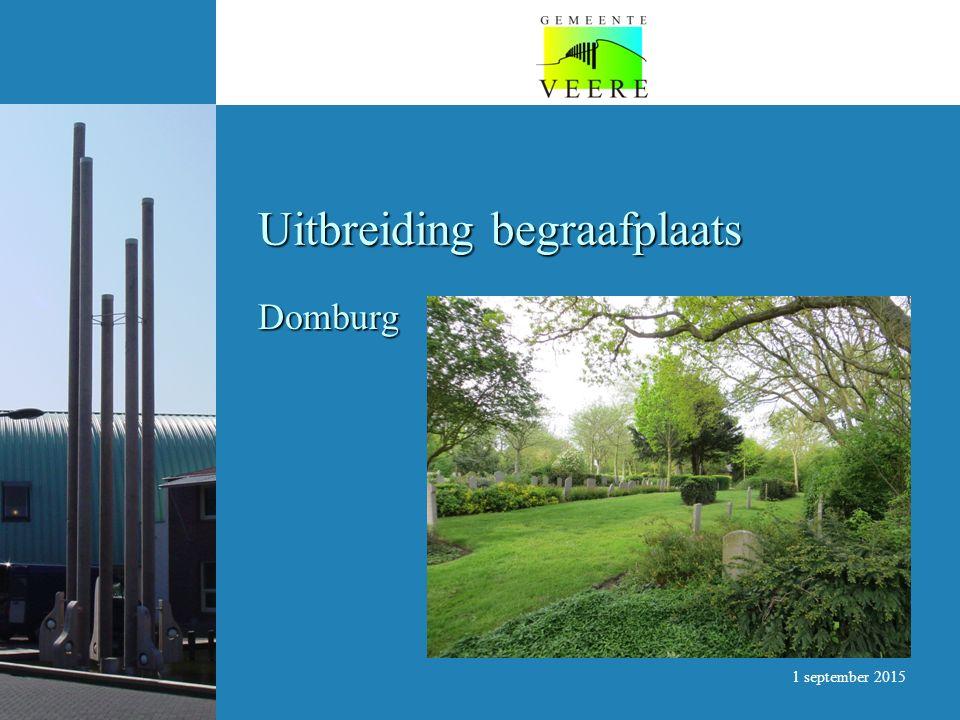Uitbreiding begraafplaats Domburg 1 september 2015
