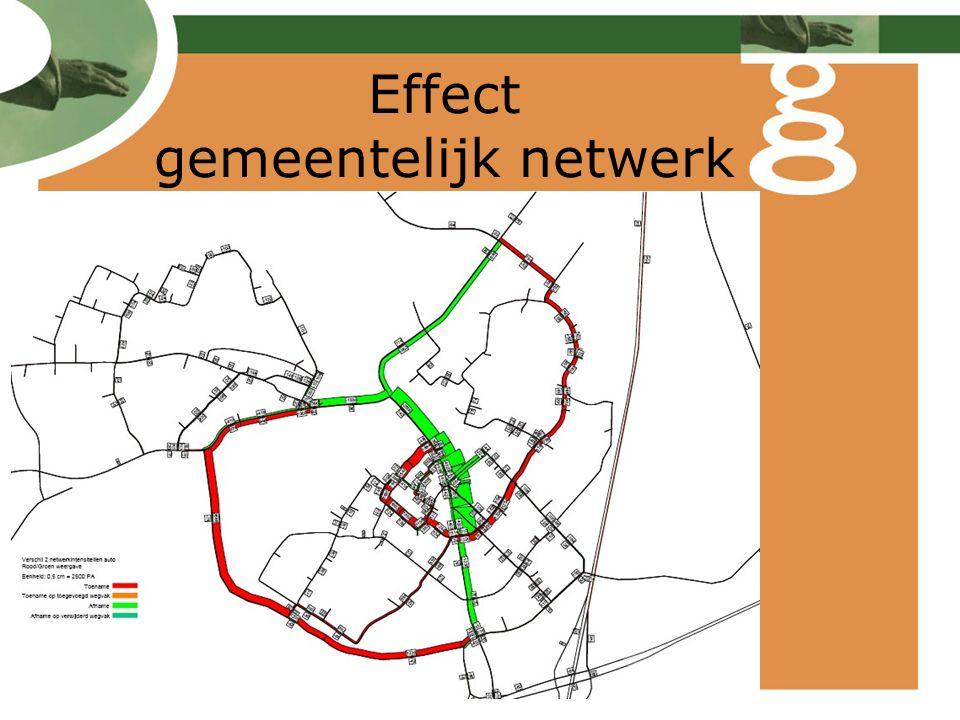 Effect gemeentelijk netwerk