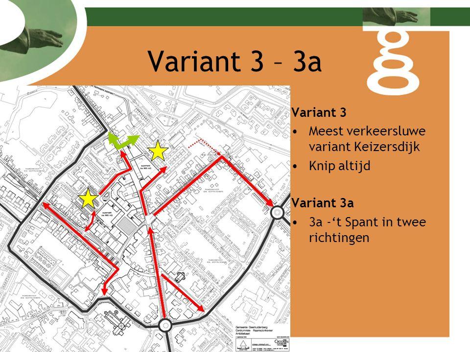 Conclusie centrumvariant Alle varianten zijn verkeerskundig mogelijk Toename van verkeer op Haven – Vrijheidstraat – Gangboord Variant 1 –meest gelijkmatige verdeling van verkeer –Optimale bereikbaarheid voor alle bestaande en nieuwe voorzieningen