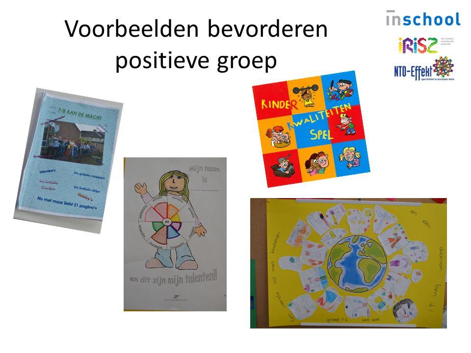 Voorbeelden bevorderen positieve groep