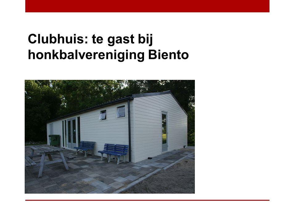 Clubhuis: te gast bij honkbalvereniging Biento