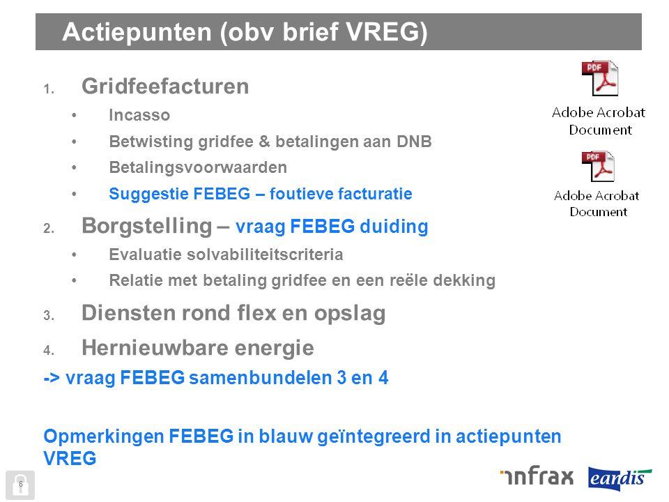 Actiepunten (obv brief VREG) 6 1.