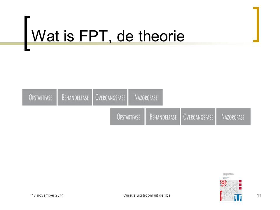 Wat is FPT, de theorie 17 november 2014Cursus uitstroom uit de Tbs14