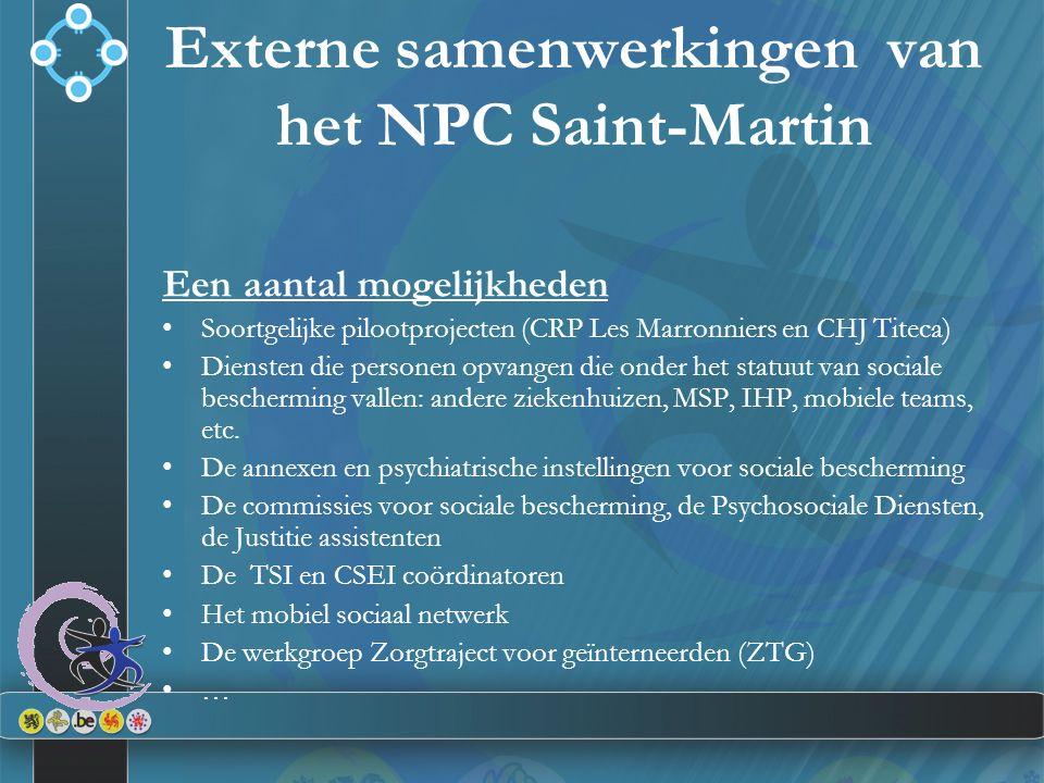 Een aantal mogelijkheden Soortgelijke pilootprojecten (CRP Les Marronniers en CHJ Titeca) Diensten die personen opvangen die onder het statuut van soc