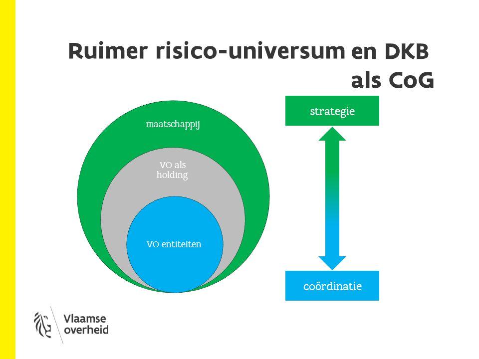 Ruimer risico-universum maatschappij VO als holding VO entiteiten strategie coördinatie en DKB als CoG
