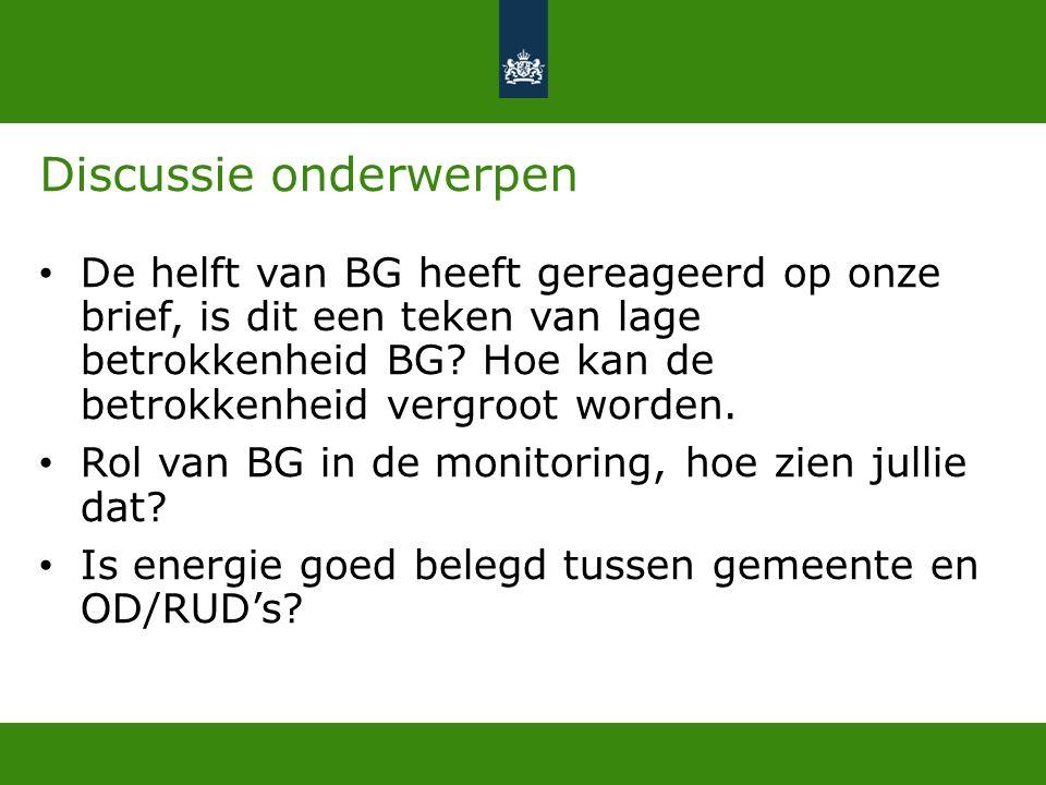 Discussie onderwerpen De helft van BG heeft gereageerd op onze brief, is dit een teken van lage betrokkenheid BG.