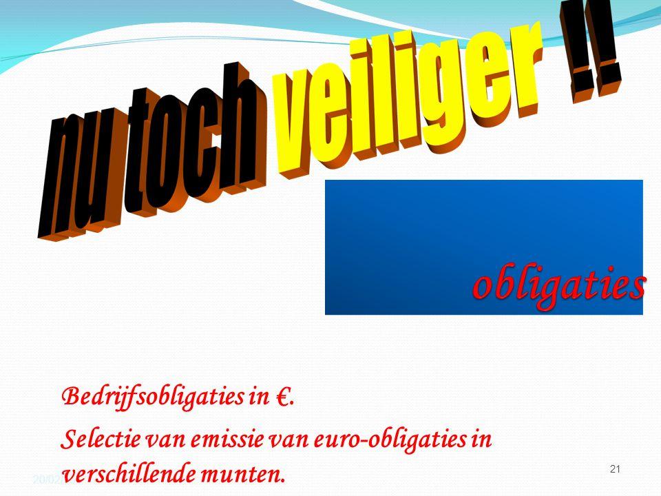 20/02/16 21 Bedrijfsobligaties in €.