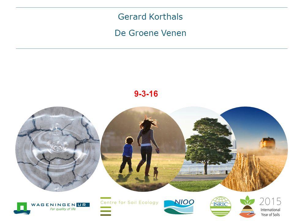 9-3-16 Gerard Korthals De Groene Venen