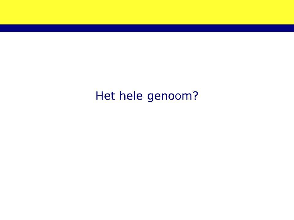 Het hele genoom?