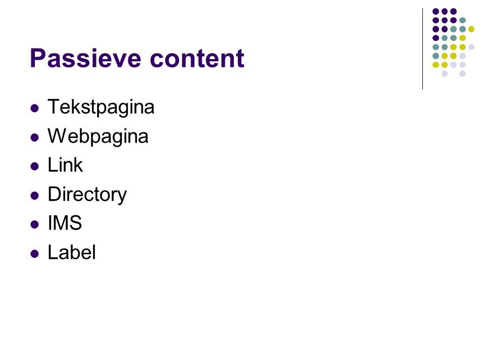Passieve content details text pagina