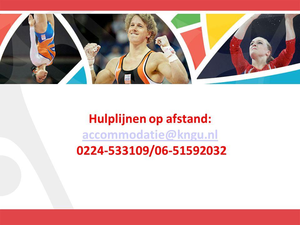Hulplijnen op afstand: accommodatie@kngu.nl 0224-533109/06-51592032 accommodatie@kngu.nl