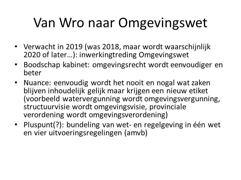 Omgevingsplan centraal Omgevingsplan vervangt (o.a.) het bestemmingsplan Ruimere reikwijdte> niet alleen ruimtelijke ordening maar bijv.