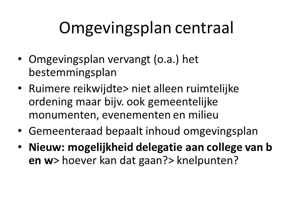 vervolg Maar ook onder Omgevingswet: Rijk en provincie behouden dwingende sturingsinstrumenten t.a.v.