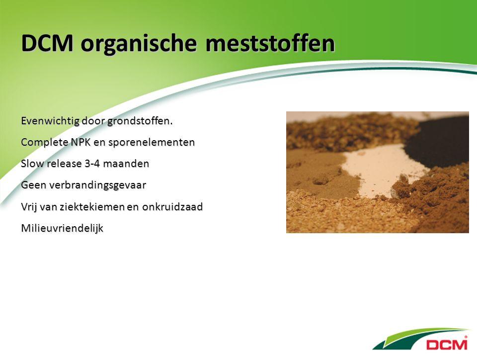 DCM organische meststoffen Evenwichtig door grondstoffen.