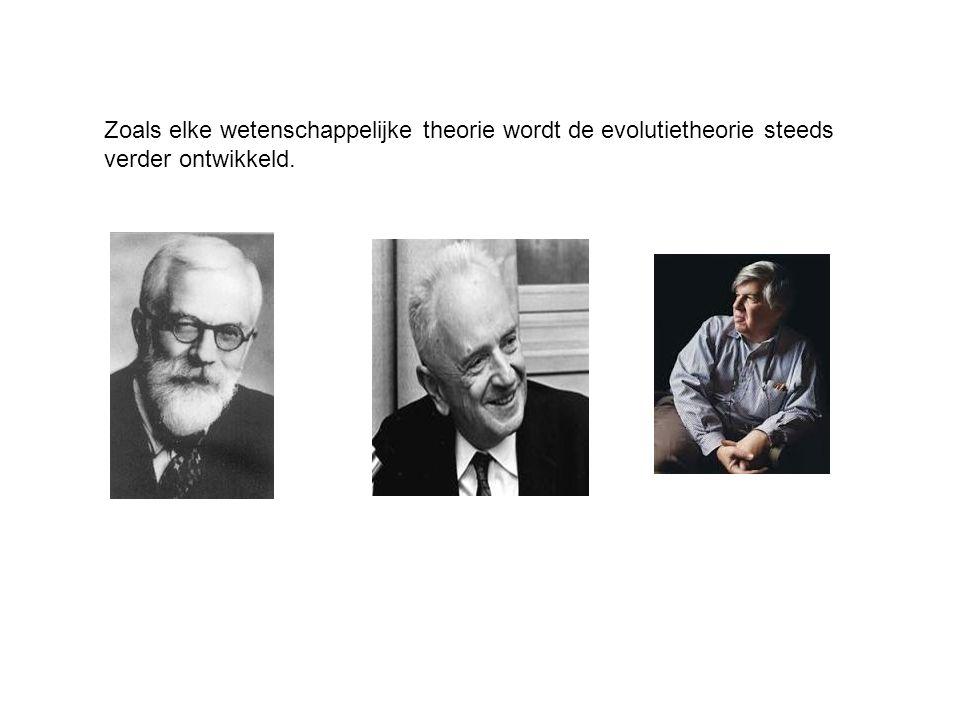 Zoals elke wetenschappelijke theorie wordt de evolutietheorie steeds verder ontwikkeld.