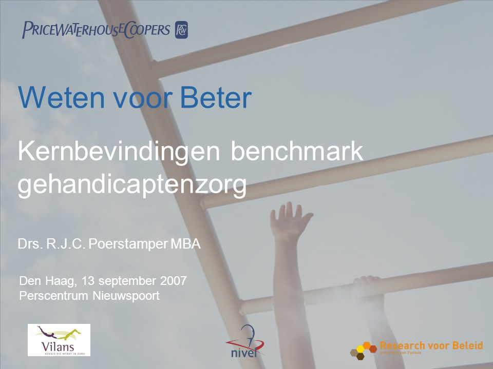  Meerdimensionaal benchmarkanalysemodel geeft evenwichtig inzicht in prestaties deelnemers Bron: benchmark gehandicaptenzorg 2006
