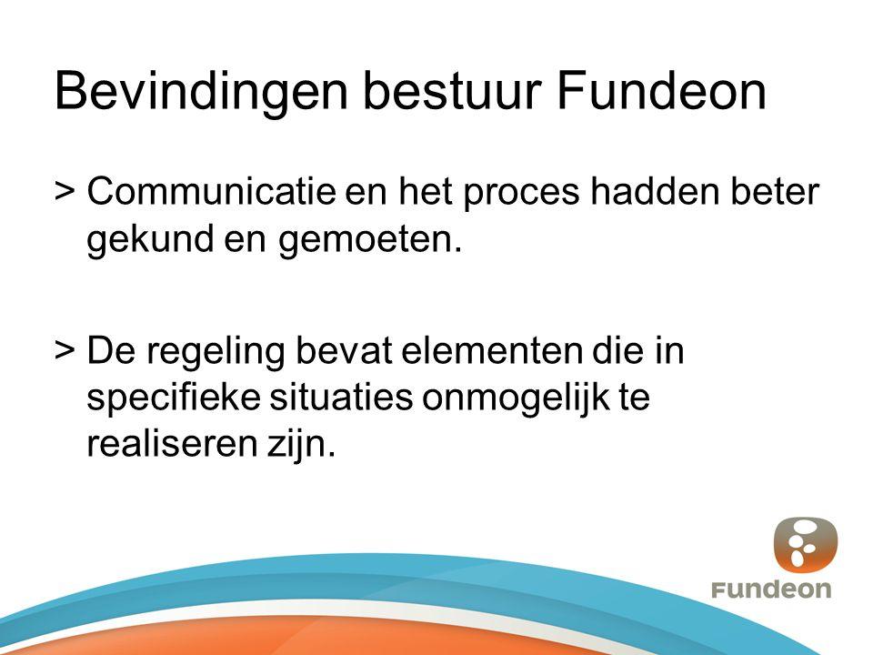 Bevindingen bestuur Fundeon >Communicatie en het proces hadden beter gekund en gemoeten.