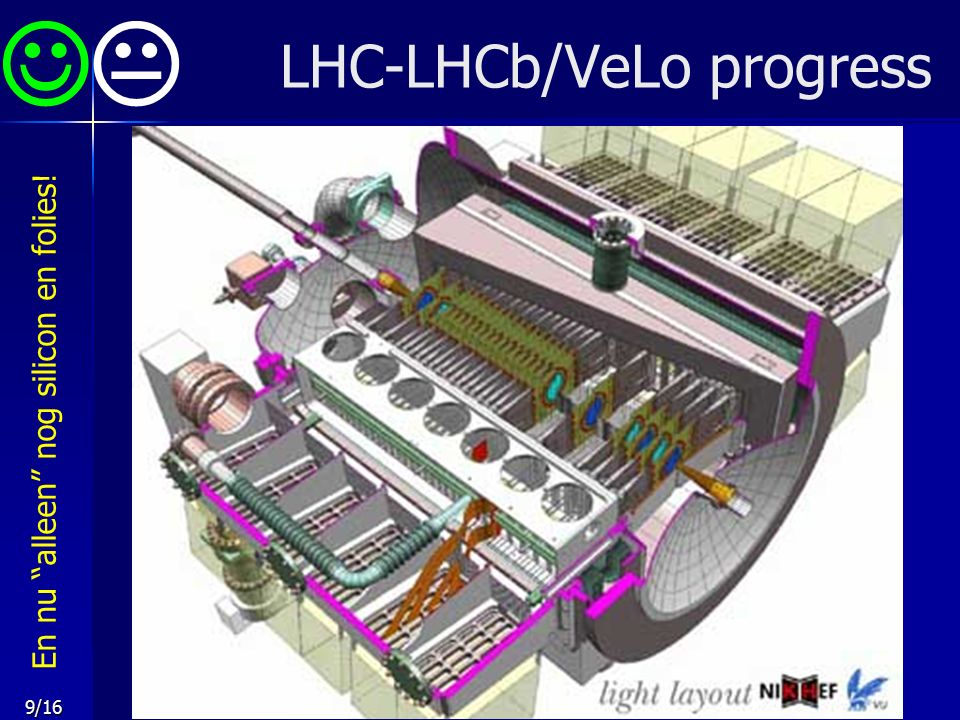 "9/16 LHC-LHCb/VeLo progress  En nu ""alleen"" nog silicon en folies!"