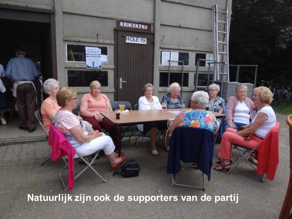 Natuurlijk zijn ook de supporters van de partij