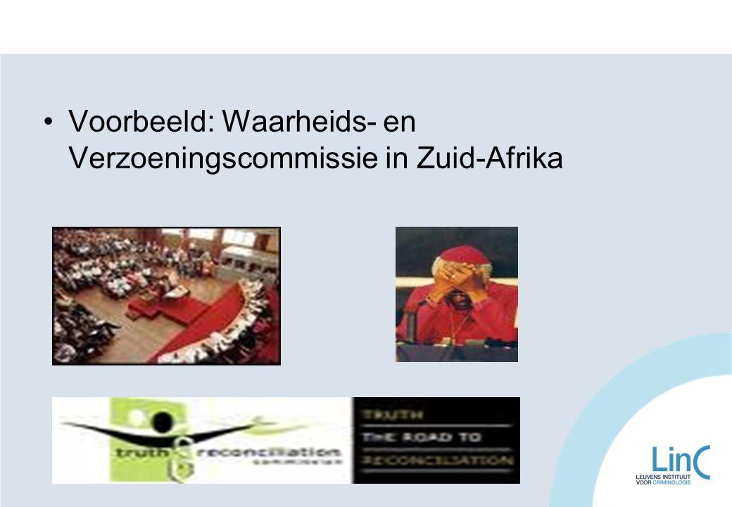 Voorbeeld: Waarheids- en Verzoeningscommissie in Zuid-Afrika