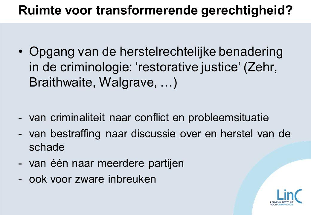 Ruimte voor transformerende gerechtigheid.
