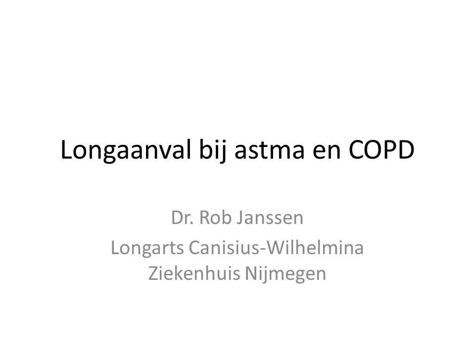 Longaanval bij astma en COPD Dr. Rob Janssen Longarts Canisius-Wilhelmina Ziekenhuis Nijmegen