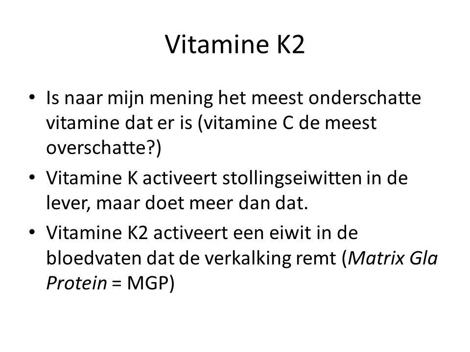 Vitamine K2 Is naar mijn mening het meest onderschatte vitamine dat er is (vitamine C de meest overschatte?) Vitamine K activeert stollingseiwitten in