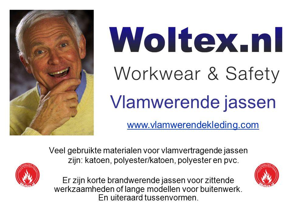 Vlamwerende jassen Vlamwerende kleding wordt steeds belangrijker in het kader van veilig werken. Woltex.nl levert dan ook een uitgebreid assortiment.