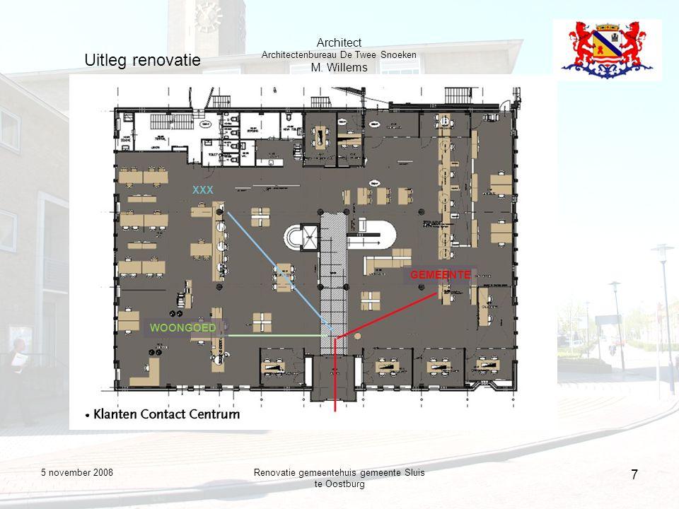 5 november 2008Renovatie gemeentehuis gemeente Sluis te Oostburg 8 Uitleg renovatie Architect Architectenbureau De Twee Snoeken M.