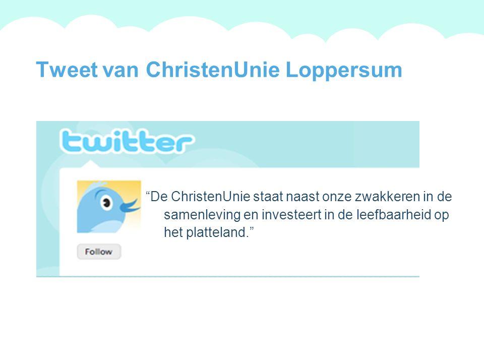 A summary of this goal will be stated here that is clarifying and inspiring 2009 Goals Tweet van ChristenUnie Winsum De taak van de overheid is beperkt.