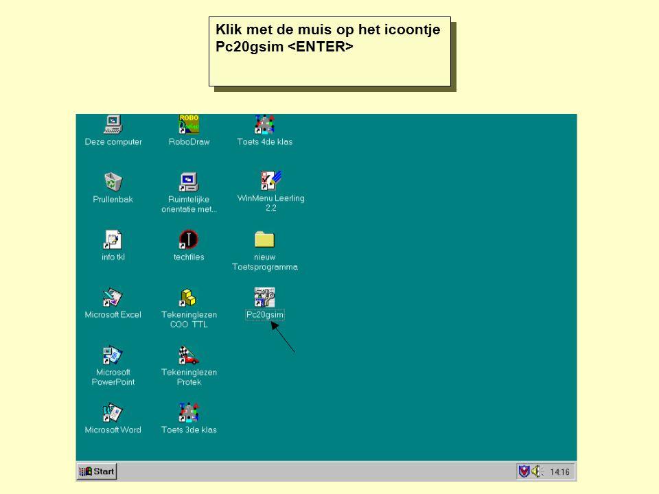 Klik met de muis op het icoontje Pc20gsim