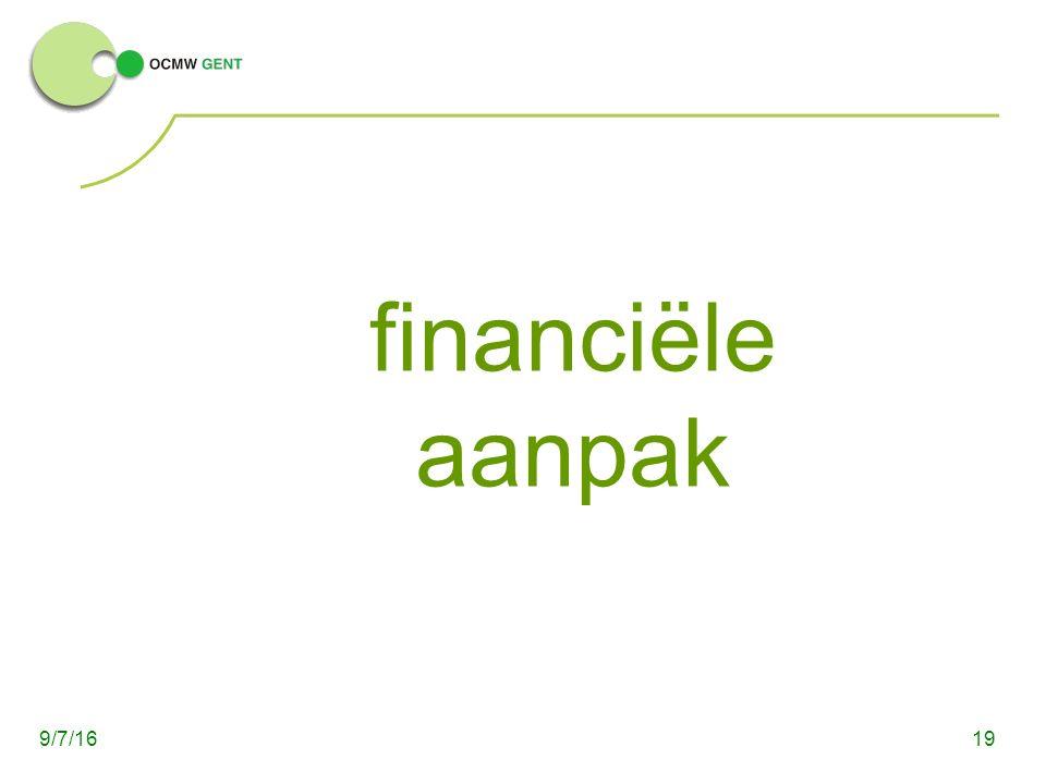 financiële aanpak 199/7/16