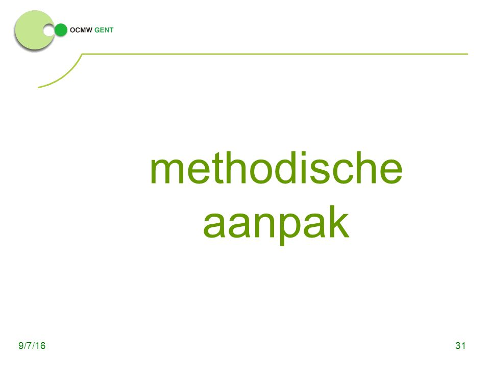 methodische aanpak 319/7/16