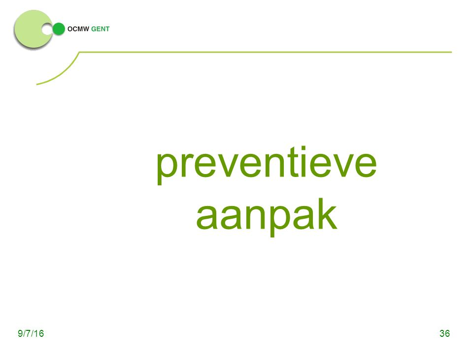 preventieve aanpak 369/7/16