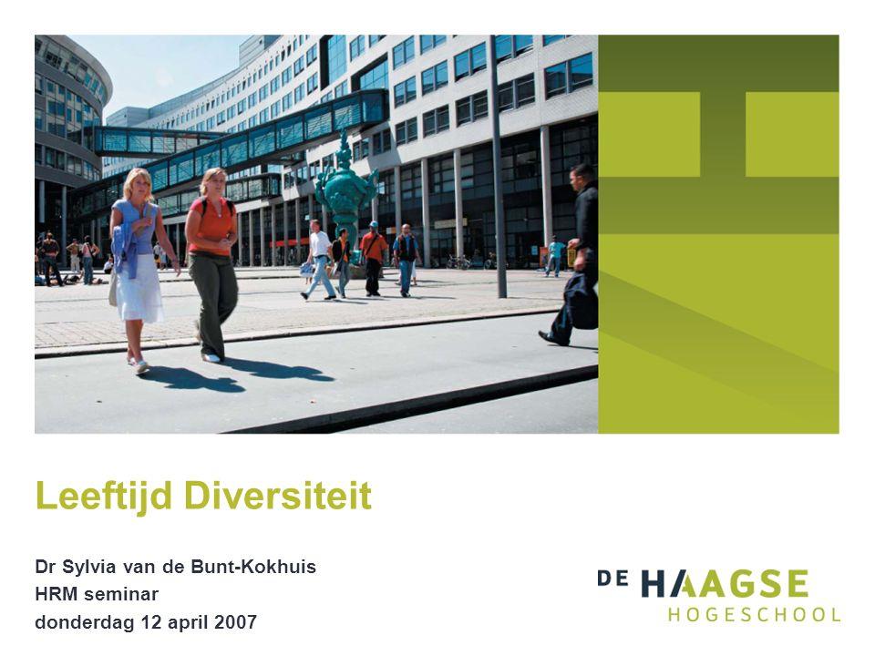 Dr Sylvia van de Bunt-Kokhuis HRM seminar donderdag 12 april 2007 Leeftijd Diversiteit
