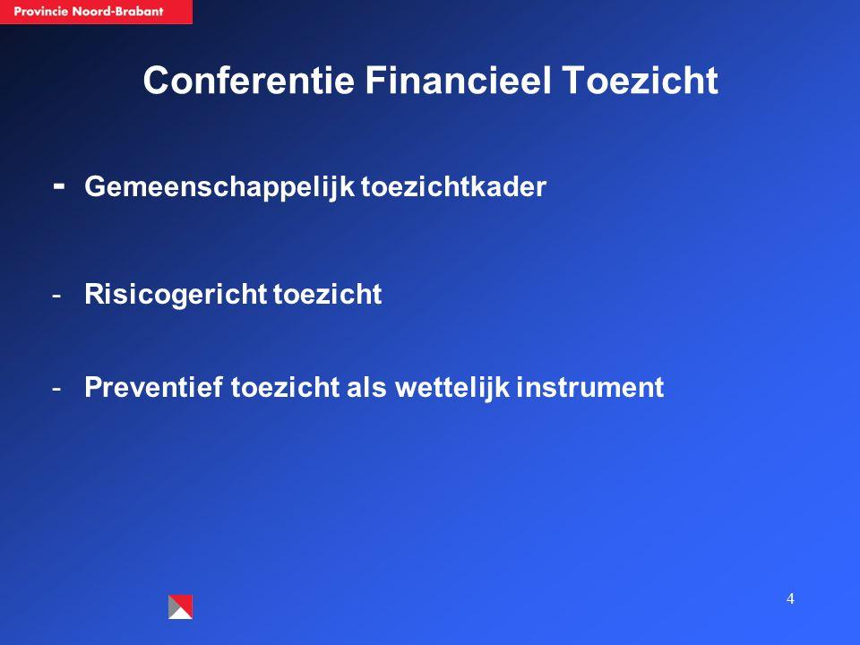 4 Conferentie Financieel Toezicht - Gemeenschappelijk toezichtkader -Risicogericht toezicht -Preventief toezicht als wettelijk instrument