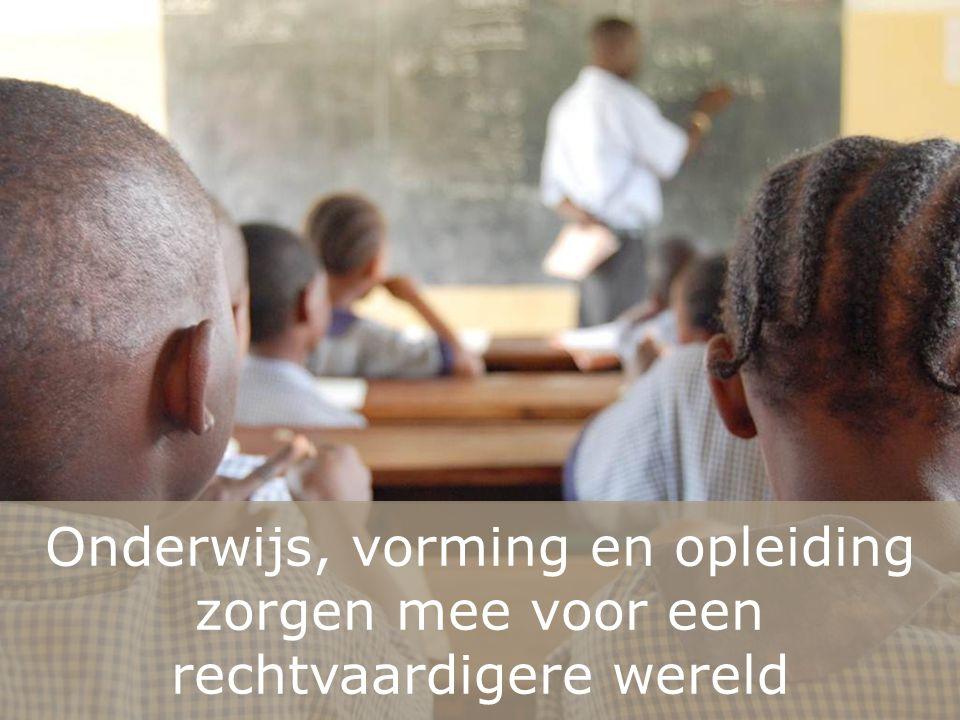 Onderwijs, vorming en opleiding zorgen mee voor een rechtvaardigere wereld