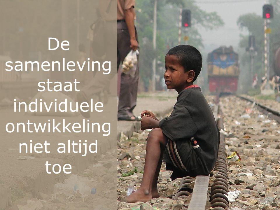 De samenleving staat individuele ontwikkeling niet altijd toe