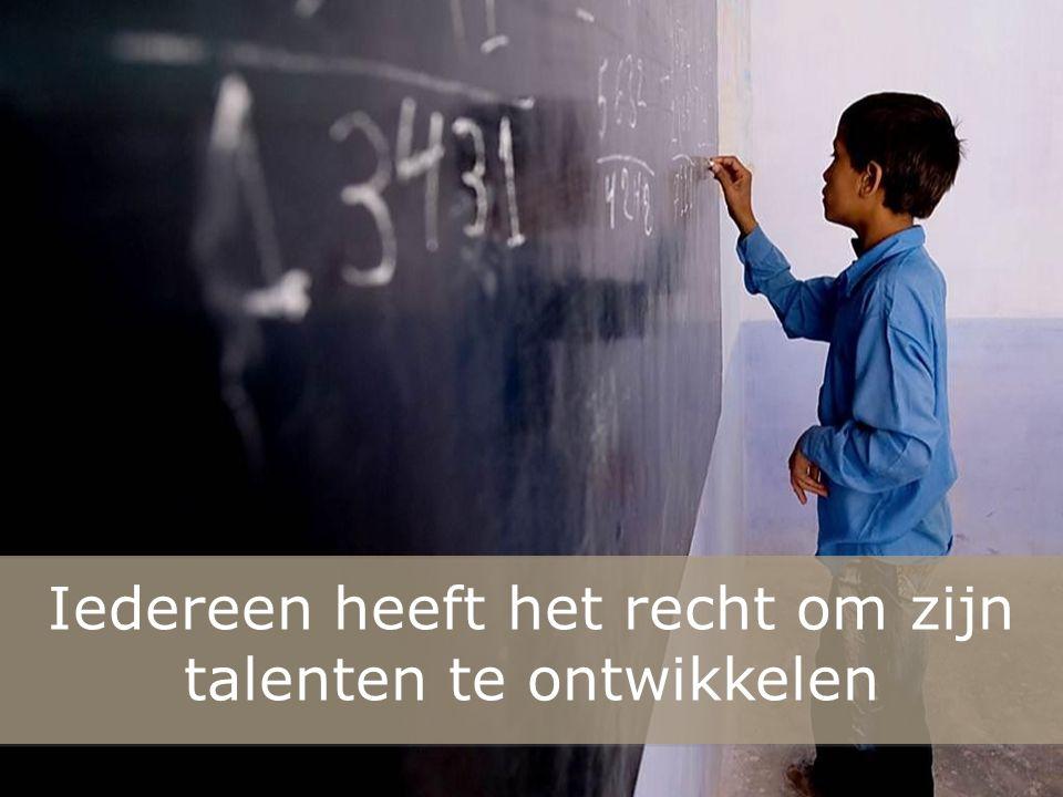 nInI Iedereen heeft het recht om zijn talenten te ontwikkelen