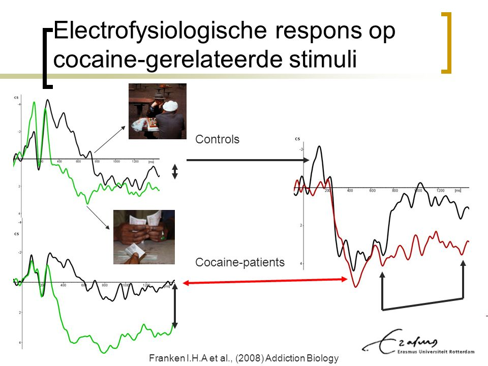 Electrofysiologische respons op cocaine-gerelateerde stimuli Franken I.H.A et al., (2008) Addiction Biology Controls Cocaine-patients